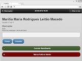 Módulo Web - Fisio: Registo do Tratamento